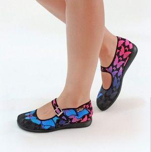 Shoes - Chocolaticas Dark Butterfly Women's Mary Jane Flat